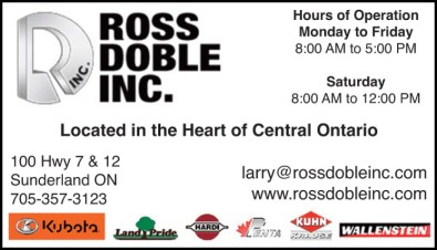 Ross Doble Inc. Located in the Heart of Central Ontario