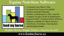 Equine Nutrition Software