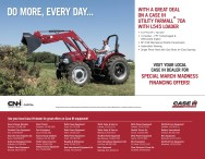 VISIT YOUR LOCAL CASE IH DEALER FOR SPECIAL MARCH MADNESS FINANCING OFFERS!
